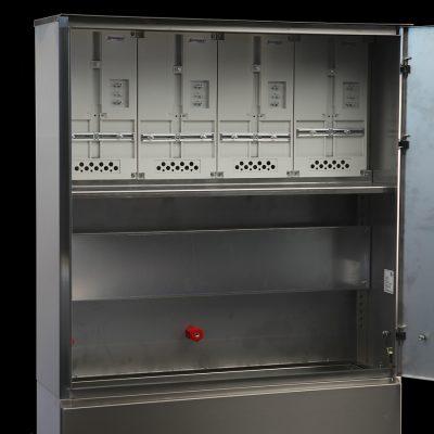 notranjost - inox elektro omara za 4 števce
