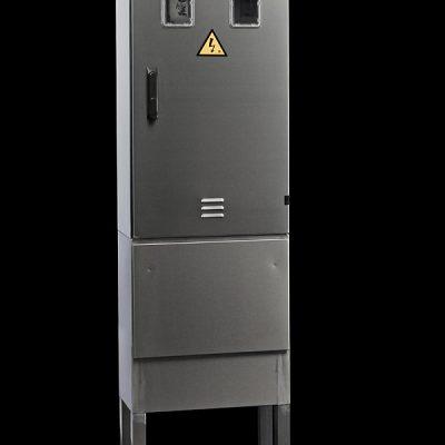prostostoječa inox elektro omara 2 števca